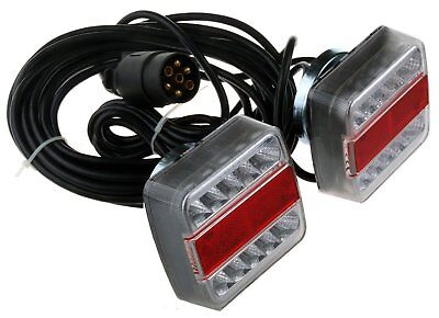 Trailer MAGNETIC lights rear board towing lamps lightboard tow  wired  7M cable