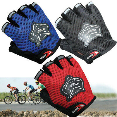 Children Bike Gloves Half Finger Breathable Anti-slip For Sports Riding Cycling