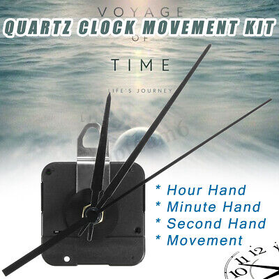 Quartz Clock Movement Mechanism Spindle Battery Powered 15mm DIY Hand Tool Kit