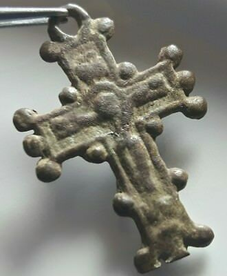 Cross ** Bronze Byzantine Artifact ** Rare Christian Amulet