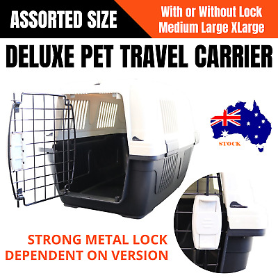 Portable Travel CAT DOG PET Carrier Crate Transporter Cage House Kennel Airline