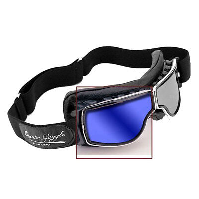 03fee36a4dfc Aviator T Series Replacement Lens Blue Mirror Motorbike For Retro Pilot  Goggles