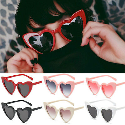 bbe8734260 Sunglasses Heart Shaped Vintage Eyeglasses Women Retro Lolita Anti-Glare  Shades