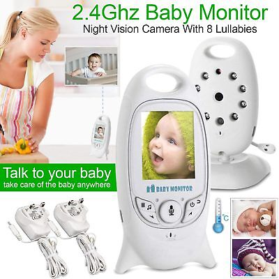 2.4GHz 2.0″ Digital Wireless Baby Monitor Audio Video Night Vision Camera