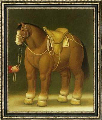"""OIL PAINTING Animals REPRO OF FERNANDO BOTERO HORSE ON CANVAS 24""""X36"""""""
