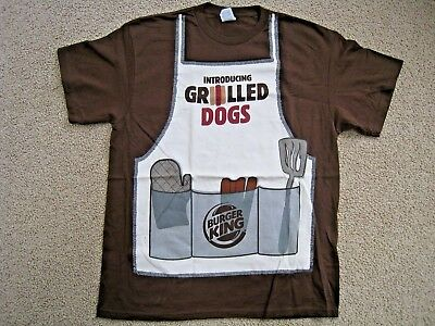 Rare NEW Authentic Burger King INTRODUCING GRILLED DOGS T-Shirt *Free Shipping*