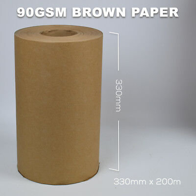 Brown Wrapping Paper/Kraft/Strong Thick Packing Posting Rolls - 330mm x 200m 90g