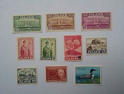 Iceland stamps mint 1938 - 1967