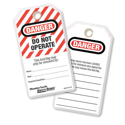 Do Not Operate Safety Tag, Laminated Model No. 497A Lockout Tagout Master Lock