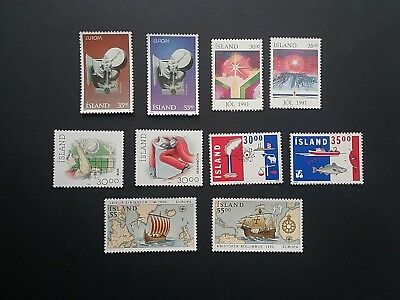 Iceland stamps mint 1991 - 1915