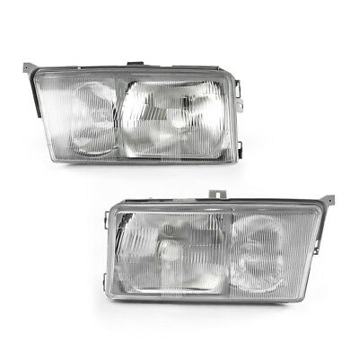 Fit for 84-94 MERCEDES BENZ W201 EURO GLASS HEADLIGHTS LEFT + RIGHT PAIR W/FOG