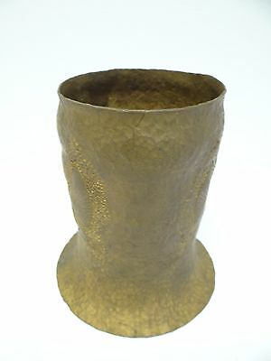 Vintage Brass Egyptian Decorative Hand Hammered Trench Art Artillery Shell Vase