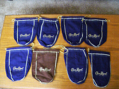 Mixed Lot of 8 Crown Royal Bags New out of Box
