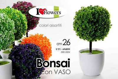Bonsai Piantina 26 Cm Color Con Vaso Vasetto Pianta Finta Artificiale Ans 694899