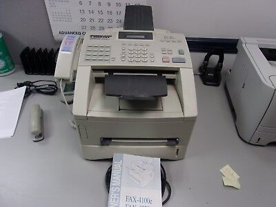 BROTHER IND., 4100e business class fax machine.