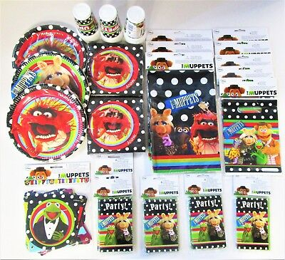 Muppets Party pack for 30 People - Disney Party Tableware and Decorations