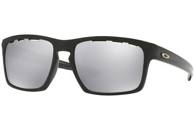 NEW OAKLEY OO9262-42 Sliver Vented Polished Black/Chrome Iridium Sunglasses 57mm