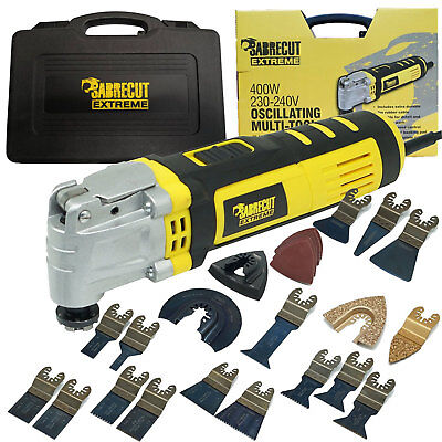SabreCut SCMTK400 400W Oscillating Multitool with 39 Mixed Accessories Included