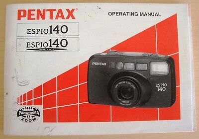 pentax espio 140 camera original 55 page instruction manual 4 00 rh picclick co uk pentax espio 140m manual