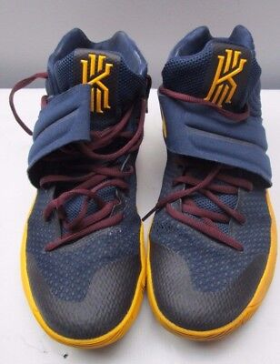 online store 2242e 95784 Nike Basketball Shoes Kyrie Irving 2 Midnight Navy Gold Playoff JBY Mens 10