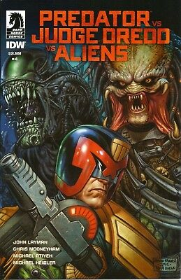 PREDATOR vs JUDGE DREDD vs ALIENS # 4 / DARK HORSE COMICS / IDW / JUN 2017 / N/M