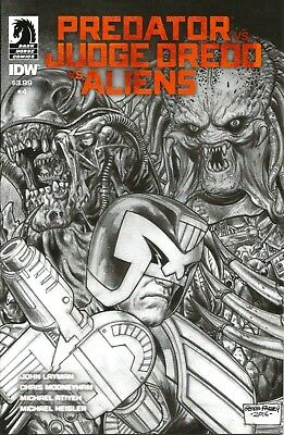 PREDATOR vs JUDGE DREDD vs ALIENS # 4 / FABRY PENCIL VARIANT CVR / JUN 2017  N/M