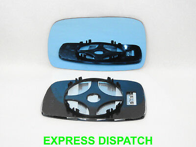For  VW Corrado 1988-1995 Wing Mirror Glass CONVEX Heated Left Side BLUE /1025