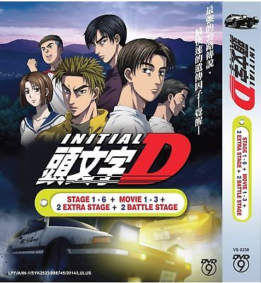 Anime Initial D Complete Series Stage 1-6+3 Movie+2 Extra Stage+2 Battle Stage