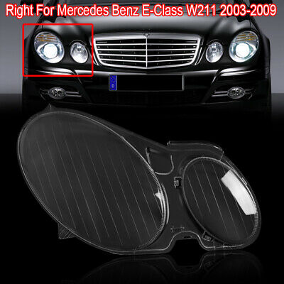 RIGHT Headlight Headlamp Lens Cover Fit For Mercedes Benz W211 E Class 2002-2008