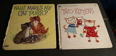 Alonzo the seagoing cat vintage childrens whitman tell a tale book vintage whitman tell a tale two kittens book what makes my cat purr 1960s fandeluxe Image collections