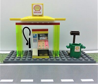 lego 377 shell service station tankstelle classic town mit. Black Bedroom Furniture Sets. Home Design Ideas