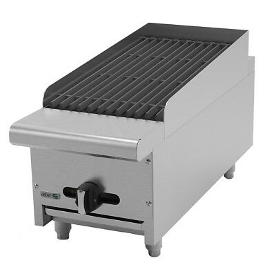 "Asber AERB-12 12"" Countertop Gas Radiant Charbroiler"