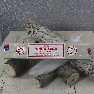 Wicca White Sage Incense. Satya White Sage Incense 15gms box Free Delivery