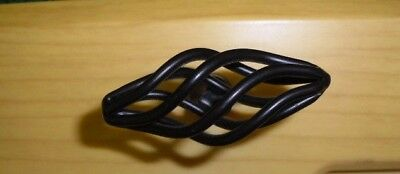 """Style Selections, Matte black, Twisted cage, cabinet knobs, 2.05""""  (10X)"""