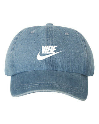 181e59d6 JUST VIBE SWOOSH Unstructured EMBROIDERED Dad Hat Adjustable Cap ...