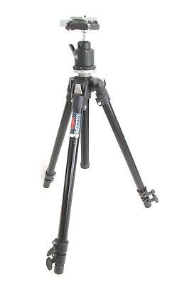 Black BOGEN MANFROTTO 3205 Tripod w/3262QR Ball Head MADE in ITALY