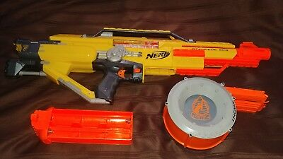Nerf Raider CS-35 N-Strike Ammo Drum 35 Dart Count Round Magazine Clip AND GUN