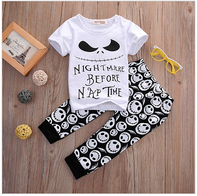 Brand New Nightmare Before Christmas Baby Clothing Set 2 Piece FREE POSTAGE