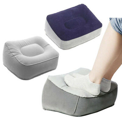 Travel Foot Air Pillow Inflatable office plane flight feet relief Velvet