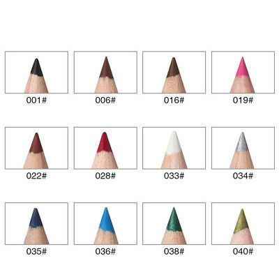12 Color Cosmetic Waterproof Eye Lip Liner Eyeliner Pencil Pen Makeup Set