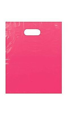 """100 Pack 9"""" x 12"""" with 1.25 mil Thickness Pink Merchandise Plastic Retail Bags"""