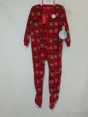 46708a2842 NWT MACY S FAMILY PJ s Footie PJ s Red   Green Striped Print Size 24 ...