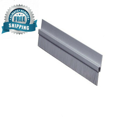 """Pemko Brush Door Bottom Sweep, Clear Anodized Aluminum with 0.625"""" Gray..."""