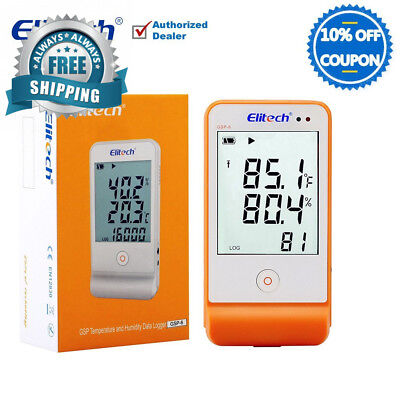 Elitech GSP6 Temperature and Humidity Data Logger Recorder Monitor Temp...