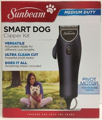 (New) Sunbeam Smart Dog Clipper Kit - Medium Duty - SUN39870
