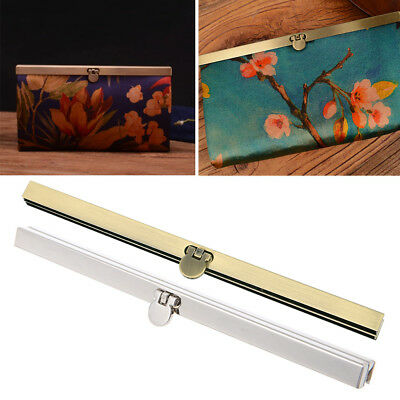 1pc Purse Wallet Frame Bar Edge Strip Clasp Metal Openable Edge Replacement 19cm
