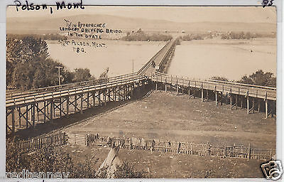 RPPC - Polson, MT - Twin Approaches to Longest State Driving Bridge - 1910