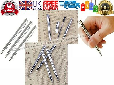 Mini Pocket Size Ballpoint Pen Metal Rotating Small Portable Oil Pen Black Blue