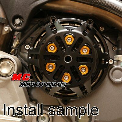 For Ducati Billet Engine Clutch Cover Black For Hypermotard 1100 M1100 M900 CC21