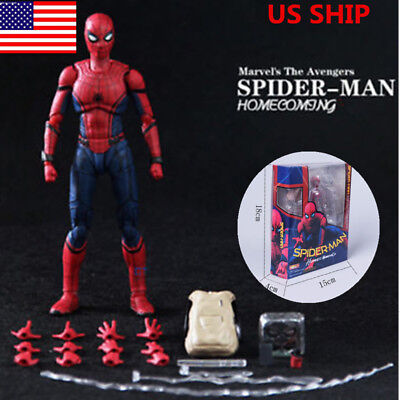 US! SHF S.H.Figuarts Marvel Spider-Man Homecoming Spiderman Hero Figure Toy